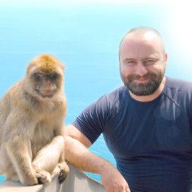 Aleš s opicí
